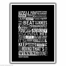 ROCKY BALBOA QUOTE ART - METAL SIGN WALL PLAQUE Inspirational poster print