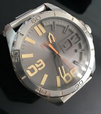 Men's Large Hugo Boss Orange Berlin Genuine 1513317 Designer Watch Grey Silver