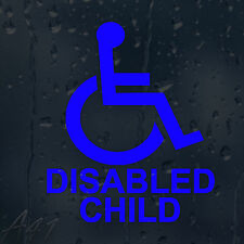 Wheelchair Disabled Child Car Windscreen Body Panel Wall Decal Vinyl Sticker