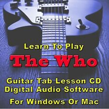 WHO (THE) Guitar Tab Lesson CD Software - 69 Songs