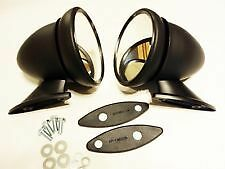 CLASSIC MINI BLACK WING/DOOR MIRROR BULLET RACING PAIR CAR MG TRIUMPH BMC 8A2