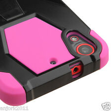 FOR HTC DESIRE 626 / 626s / 530 HYBRID CASE W/STAND SKIN COVER BLACK/PINK