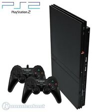 PS2 / Sony Playstation 2 - console Slim #black (incl. 2 gamepads & equipment)