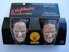 A Nightmare On Elm Street Movie Pair of 3-D Plastic Freddy Shot Glasses, NEW