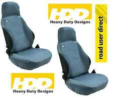 2 x HDD Front Seat Covers GREY Cars With Side Air Bags - Inc Tracked Courier