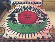 Indian Bedspread Bedding Throws Bed Wall Tapestry Wall Hanging Sun Moon Hippie