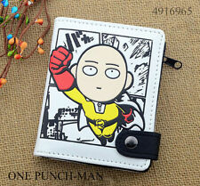 Anime ONE PUNCH-MAN Saitama Wallet Holder White Purse Layers PU Button Flying