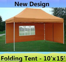 10' x 15' Pop Up Canopy Party Tent Gazebo EZ - Burnt Orange - E Model