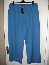 adies wide leg linen blend trousers from Joanna Hope size 20 NEW