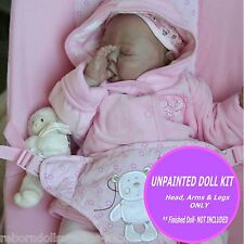 "Baby doll kit Sofie ~ Reborn Doll Kit by Denise Pratt Sleeping 20""unpainted kit"