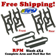RPM Front & Rear Suspension Arms (4)+ Nerf Bars Black Traxxas Slash/Stampede 4x4
