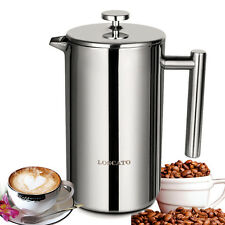 50OZ Double Wall Stainless Steel French Coffee Press Maker Plunger 1500ML