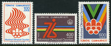 Turkey 2038-2040, MI 2398-2400, MNH. 21st Olympic Games, Montreal, Canada, 1976