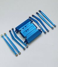 Axial Wraith #WRT11 Alu. Chassis Plate, Linkage Set Blue