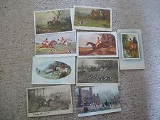 Collection Of Early Postcards Relating To Hunting Horses & Dogs ALL PICTURED