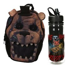 Five Nights at Freddy's Backpack (3D Model) with 16 oz FNAF Waterbottle