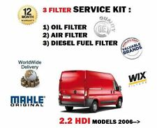 FOR CITROEN RELAY 2.2HDi 8/2006-  SERVICE KIT OIL AIR FUEL  ( 3 )  FILTER KIT