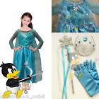 Ice Princess Elsa Fancy Dress Girls Frozen Snow Costume Party Queen Kids Anna