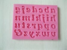 Lower Case Letters Silicone Mould Baking Cake Cupcake Topper Icing Decoration