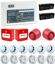 C-TEC 2 Zone Conventional Fire Alarm Kit 6 Detectors 2 Call Points 2 Sounders