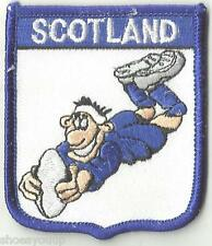 SCOTLAND RUGBY PLAYER FLAG CREST WORLD EMBROIDERED PATCH BADGE