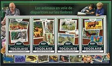 TOGO 2017 ENDANGERED SPECIES WWF PREVIOUSLY ISSUED STAMPS SHEET MINT NH