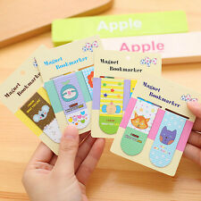 Fashion 2 Piece Cute Cartoon Animal Wooden Bookmark Paper Clips Stationery
