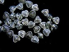 30 Pcs - 6mm Tibetan Silver Heart Spacer Beads Jewellery Craft Beading U153