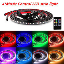 1Set LED Strip Car Tube Underglow Underbody Glow System Neon Light Kit+Remote
