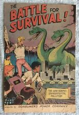 1971 The Battle For Survival- Consumers Power Co. Comic- Pollution-Monster Pics!