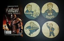 4 Fallout New Vegas Coasters - Exclusive Promotional Coaster set  - New Sealed