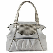 Skip Hop Studio Select Day-To-Night Diaper Satchel Baby Tote Diaper Bag, Pewter