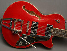 Duesenberg Starplayer TV Red Sparkle with Hard Shell Case   FREE SHIPPING