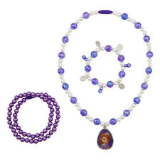 NEW Disney Store Sofia the First Jewelry Necklace & Bracelet Set Pendant Beads