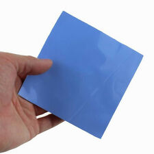 Blue 100mmx100mmx1mm GPU CPU Heatsink Cooling Thermal Conductive Silicone Pad