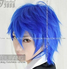 Hot!!Free Shipping Vocaloid Kaito short blue layered cosplay Wig+gift