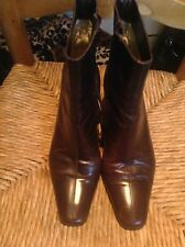 Russell & Bromley P.VERDI PARIS Verso BROWN Ladies Leather Ankle Boot Size 36