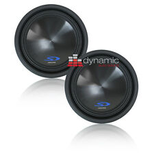 """Two (2) ALPINE SWS-12D4 Subs 12"""" Dual 4-Ohm Type-S Car Subwoofers 3,000W New"""