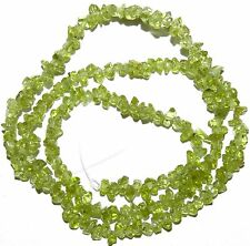 NGL1655f 5-Strands Green Peridot Min-Chip (3-4mm) Natural Gemstone Chip Beads