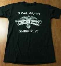 CASTLE BLOOD gothic lrg T shirt Halloween tee Beallsville haunted house PA