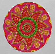 Beautiful Colourful Rangoli Round Indian Mandala Sticker 15cm One Sided (RG1)