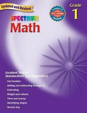 Spectrum Math, Grade 1 by Thomas Richards Worksheets Homeschool/Class Like new!