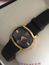 GENUINE DIAMONDS  12R30 WITTNAUER MONTSERRAT SWISS  WOMEN'S GOLD WATCH  NEW $595