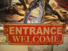 Curved ENTRANCE WELCOME SIGN Theater Shop Popcorn Movies Game Room Garage