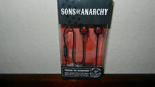 "Sons of Anarchy SOA Red ""A"" Earbuds Stereo Headphones Head Phones NEW"