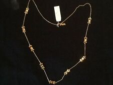 NWT KATE SPADE Take a Bow Long GOLD colored Necklace-NEW