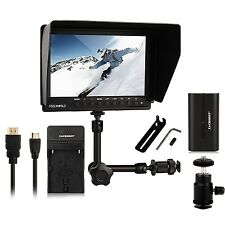 Feelworld FW-760 Video Monitor for Dslr Camera  + Battery+Charger +Magic Arm 7''