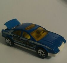 Matchbox.2001 Generic Looking Police Chief's Car Blue w. (Opening Trunk)