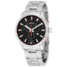Mido Multifort Chronograph Black Dial Stainless Steel Mens Watch M0054171105100