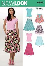 NEW LOOK SEWING PATTERN MISSES DRESS & KNIT TOP SIZE 10 - 22  6899